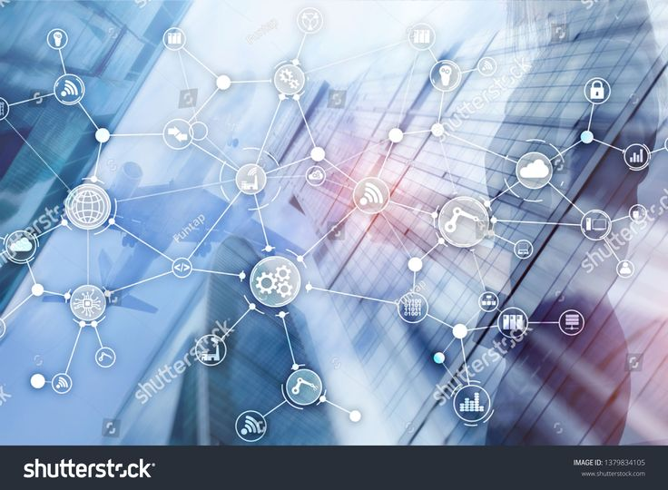 Technology industrial business process workflow organisation structure on virtual screen. IOT smart industry concept mixed media diagram. #Sponsored ,…