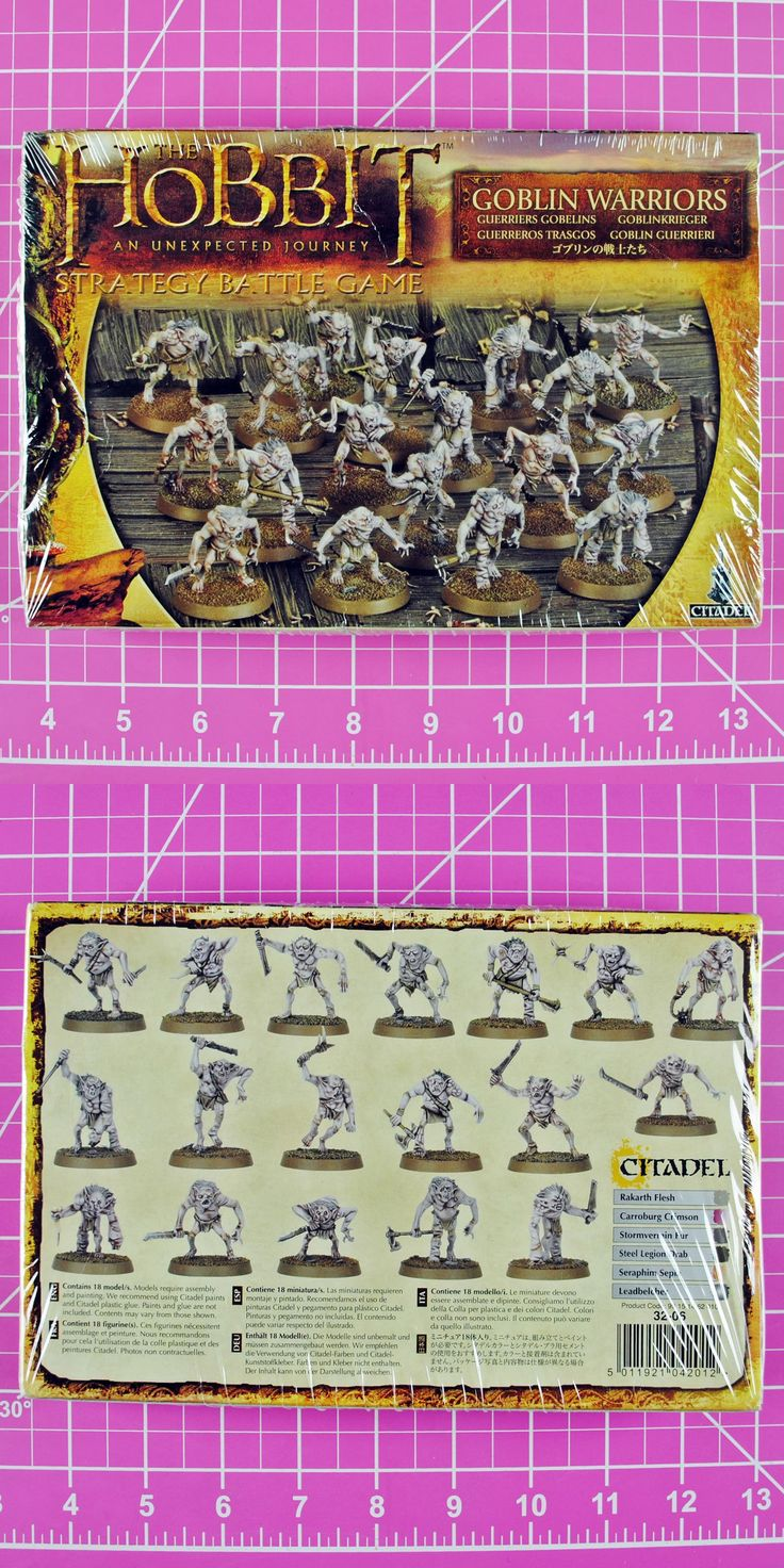 Lord of the Rings 44011: Hobbit Strategy Battle Game Goblin Warriors Nib Plastic, Games Workshop Lotr Sbg -> BUY IT NOW ONLY: $34.95 on eBay!