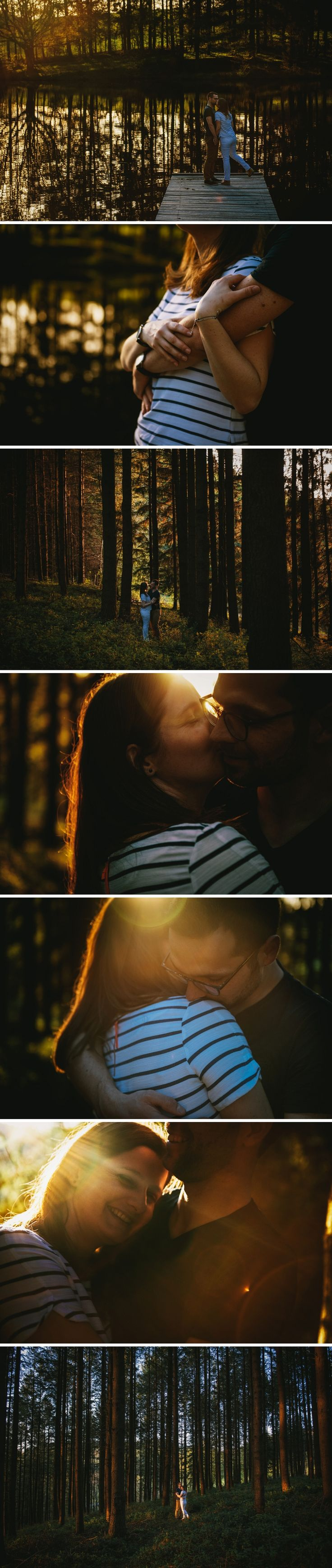 Séance d'engagement couple en forêt // Zépjyr et Luna Photographie