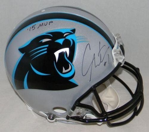 Cam Newton Signed Helmet - F s Proline W 15 Mvp - JSA Certified - Autographed NFL Helmets ** Click on the image for additional details.