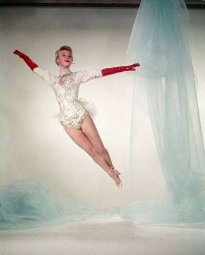 Vera Ellen     Edith Head creation for the 'Mandy' number in White Christmas, 1954.