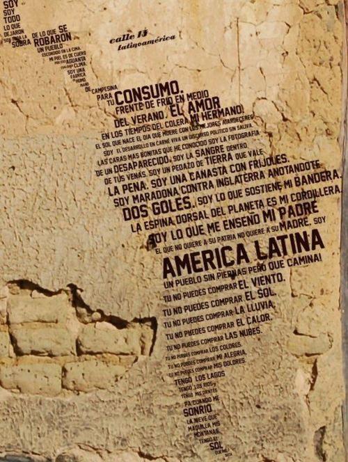 Latinoamerica- calle 13