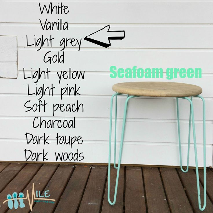 Seafoam green goes with...