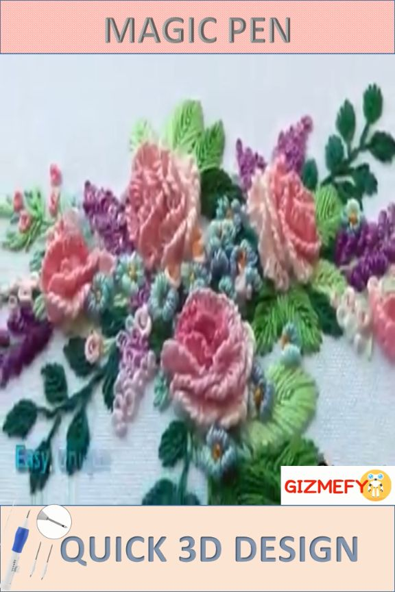 Do you love doing Embroidery then this is must for you. Quick 3D Designs Embroidery with this Tool.
