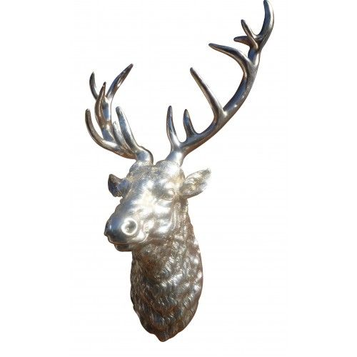 Magnificent large silver stags head wall mount cheshire high pinterest wall mount silver - Silver stag head wall mount ...