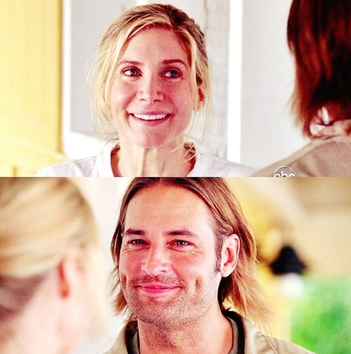 Juliet and Sawyer <3 She was so happy when she saved that baby because every baby she tried to save died, and she finally did it!! And sawyer was so proud
