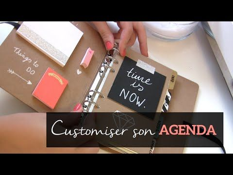 DIY BACK TO SCHOOL - Customiser son AGENDA - YouTube