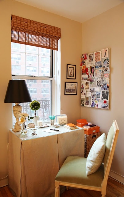 Simple home office via Habitually Chic