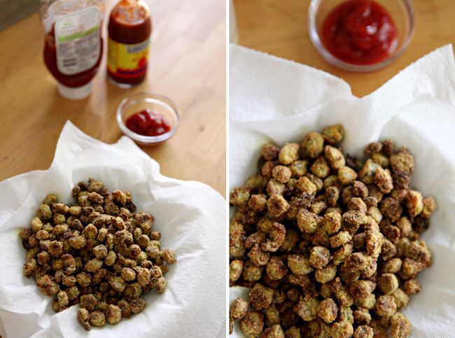Oven Fried Okra - The Speckled Palate I tried this tonight, but with an egg white instead of buttermilk--SO GOOD!