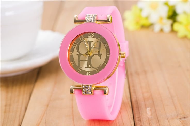 New Fashion Brand Gold Geneva Casual Quartz Watch Women Crystal Silicone Watches Relogio Feminino Dress Wrist Watch Hot - envíos gratis en todo el mundo