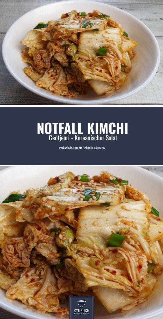 Schnelles Kimchi koreanisches Geotjeori Kohl Kimchi