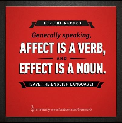 "Save the English language: ""Affect"" vs ""Effect"""