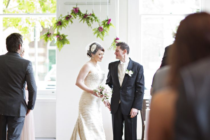 simple stunning ceremony at restaurant two