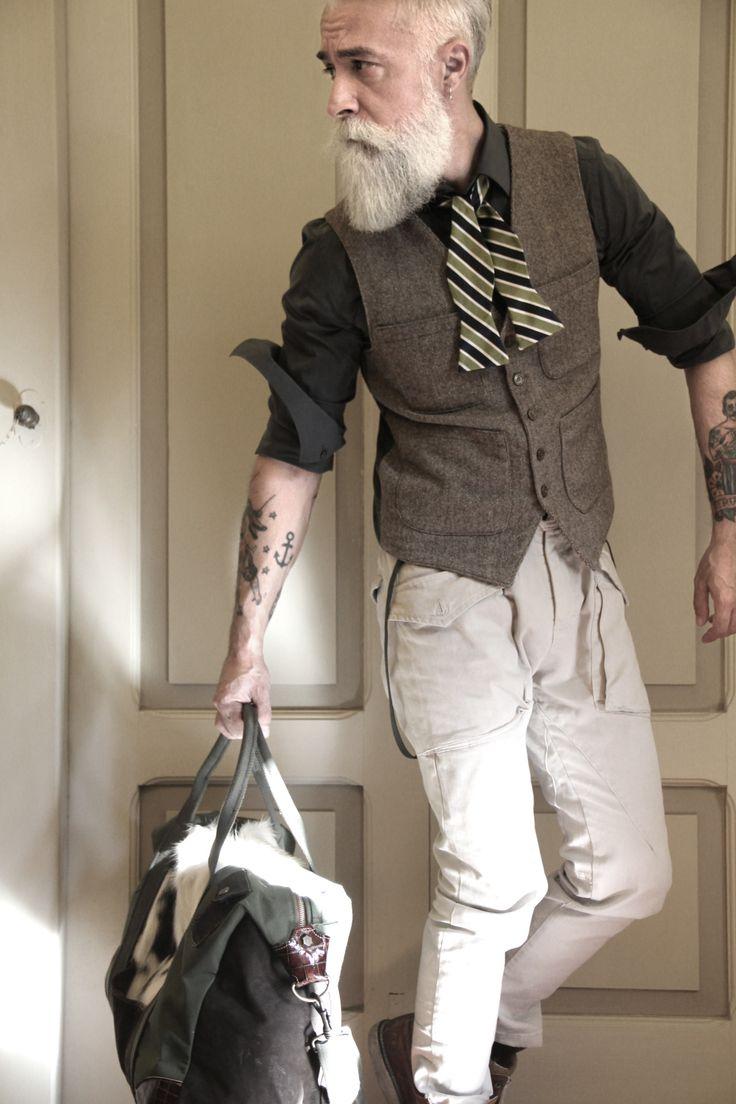 Duke men s strong buckle jeans cargo amp trouser rawhide leather belt - Vest Bow Tie And Cargo Pants Suave Bearded Menmen S