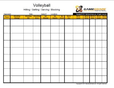 Decisive image for volleyball stat sheets printable
