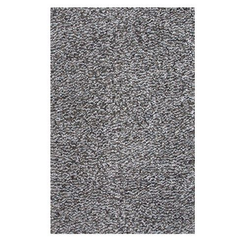 """Sweet Home Stores Cozy Shag Collection Solid Contemporary Living & Bedroom Soft Shaggy Area Rug, 118"""" L x 94"""" W, Grey"""