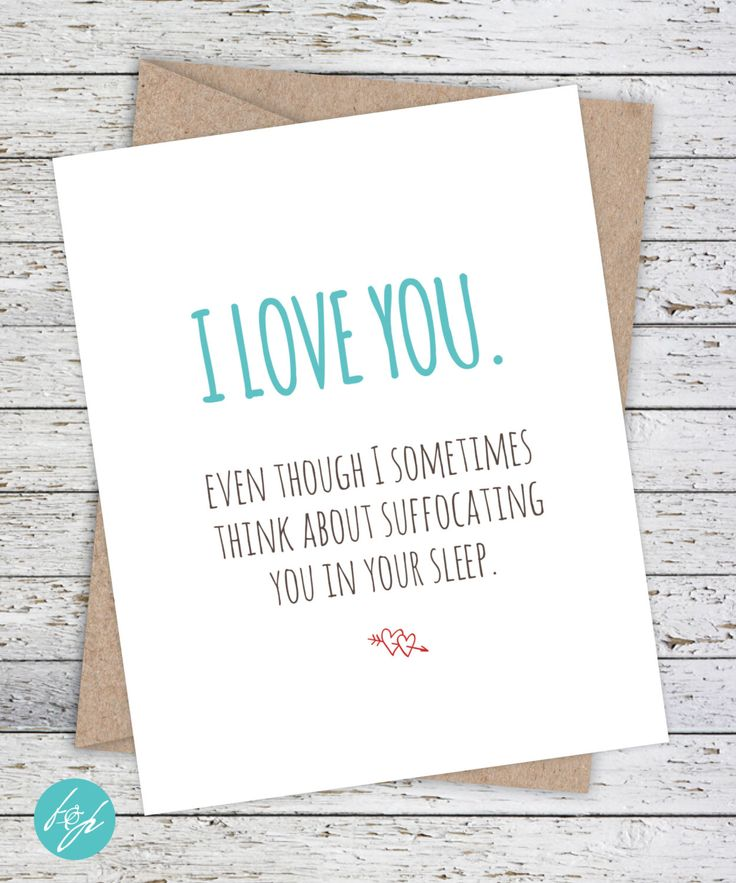 Boyfriend Card Funny, Birthday, Anniversary funny card, Quirky Snarky Greeting Card, Girlfriend, I love you card by FlairandPaper on Etsy