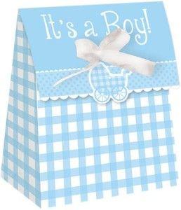 Jolis sachets cadeaux aux invités pour une baby shower garçon, Vichy Rétro Baby Boy! On adore!  http://www.mybbshowershop.com/cadeaux-aux-invites-c14.html