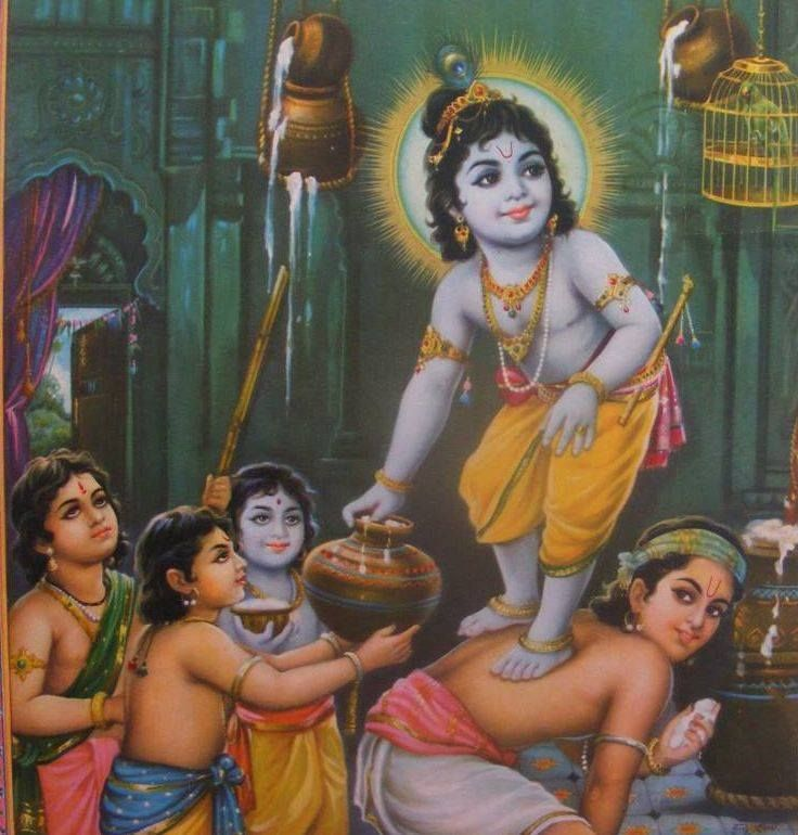 Top Lord Krishna with Butter images for free download