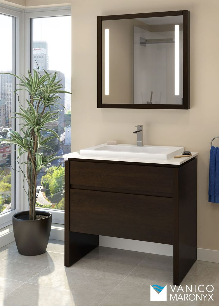 Simple Modern Bath Vanity By Vanico Maronyx / Desk Collection
