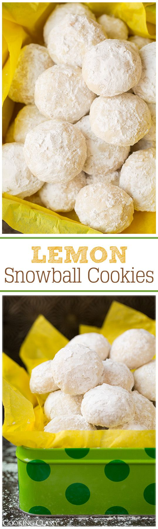 Lemon Snowball Cookies - these cookies are so IRRESISTIBLE! Love them!