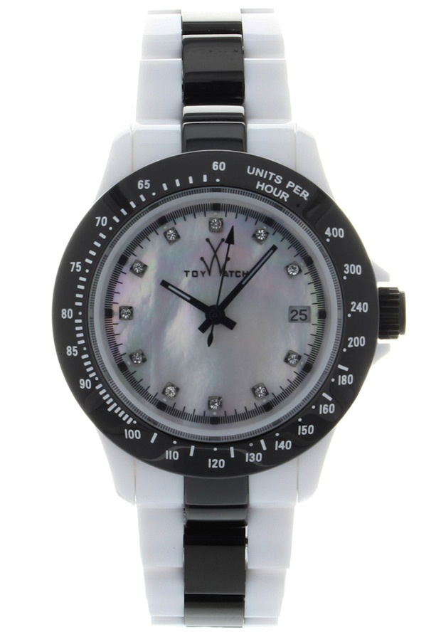 Price:$130.50 #watches ToyWatch HM13WHGU, Ceramic case, Ceramic bracelet, Mother of Pearl dial, Quartz movement, Scratch-resistant mineral, Water resistant up to 5 ATM - 50 meters - 165 feet