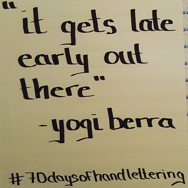 Top 100 yogi berra quotes photos #70daysofhandlettering -Day 3  I think I made progress with my caligraphy pen today!  And, who doesn't love a Yogi Berra quote.  #handlettering #calligraphypractice  #calligraphy #calligraphypen #practicemakesperfect #handwriting #yogiberra #yogiberraquotes #baseball #baseballfan See more http://wumann.com/top-100-yogi-berra-quotes-photos/