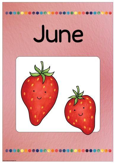 """Ideenreise: Monatsplakat """"June/Juni"""""""
