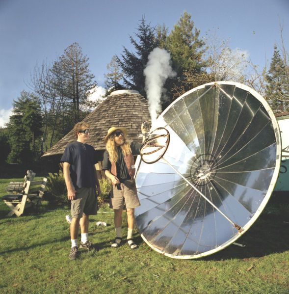 Bart Orlando S Giant Satellite Dish Parabolic Cooker It