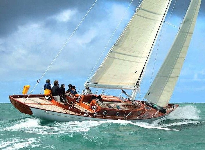 A sailing yacht from Spirit Yachts. Yes, that's the ticket.