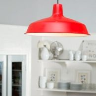 Red Pendant Light Makeover