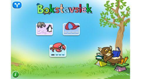 Bokstavslek lär ut stavning av mer än 300 substantiv, på svenska, engelska och 8 fler språk, i varierande svårighetsgrader. Här tränar barnen såväl begynnelsebokstäver som att skriva och stava ord på ett lekfullt och roligt sätt.