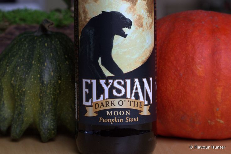 Dark O' The Moon is a seasonal pumpkin stout, brewed by Elysian Brewing from Seattle.