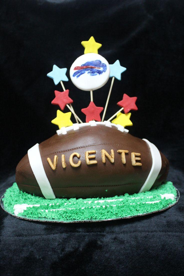 American Football Cake  pastel de fútbol americano modelado.