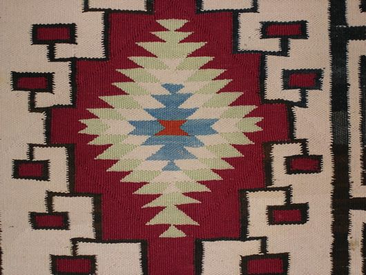 Old Crystal Double Navajo Saddle Blanket For