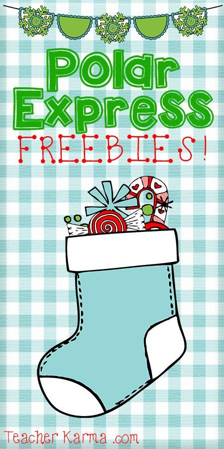 Polar Express FREEBIES for the classroom.  TeacherKarma.com