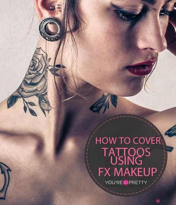 How To Cover Tatoos Using Special FX Makeup | Makeup tutorials and best makeup tips at You're So Pretty | #youresopretty | youresopretty.com