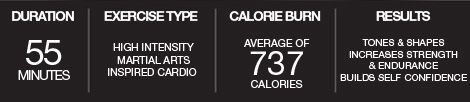 also from BodyCombat - seeing that many calories burned in 1 hour is motivation to keep going
