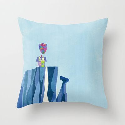 Pixar Up — Paradise Falls Throw Pillow by Ciara Panacchia - $20.00