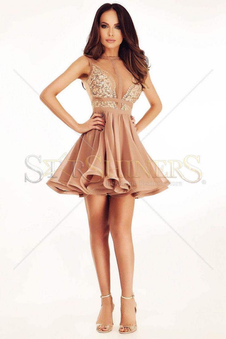 Ana Radu Fifty Shades Brown Dress