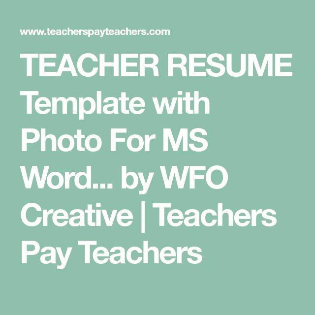 Best 25+ Teacher resumes ideas on Pinterest Teaching resume - resume action phrases