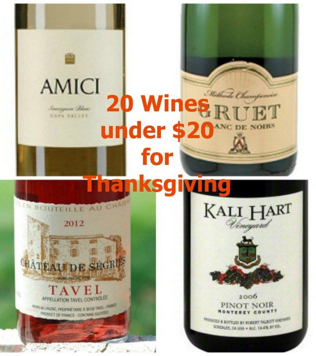 20 Wines under $20 You Should Try for Thanksgiving