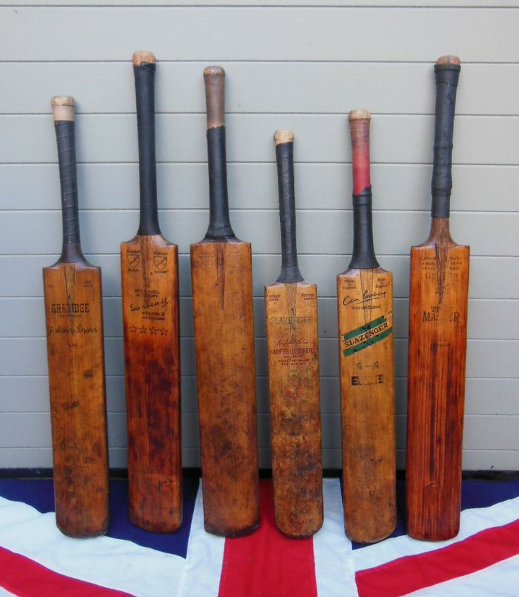 ANTIQUE CRICKET BATS more available at http://www.colonialsoldier.com/sportingantiques/
