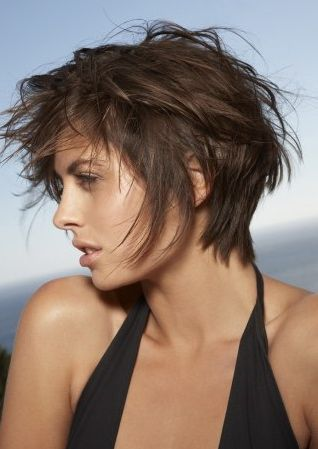 Favorite picture I've seen yet of the kind of haircut I want! Messy, shaggy pixie-bob.