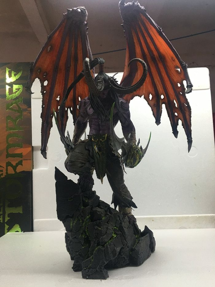 304.00$  Watch more here  - MODEL FANS IN-STOCK wow Illidan 60cm height gk resin statue figure for collection