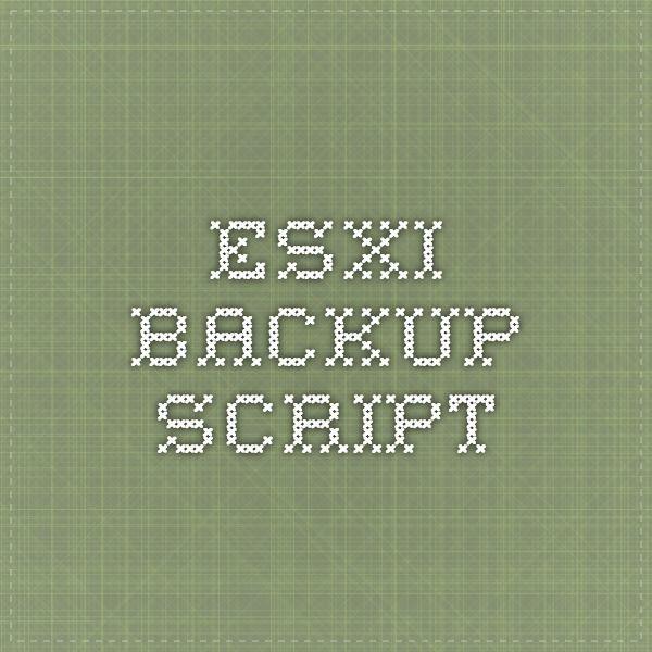 ESXi backup script