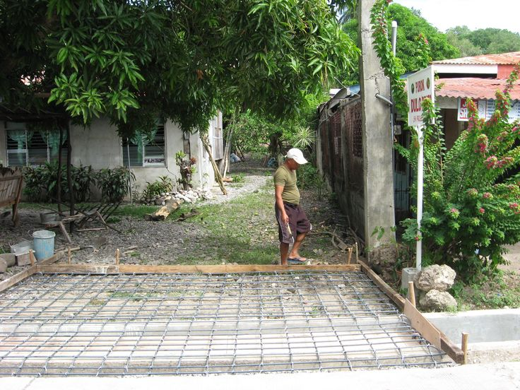 3. small concrete cover over the water waste canal. for the road to the house