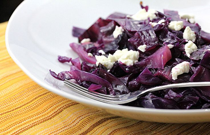 Braised Red Cabbage with Goat Cheese - Houstons / Hillstone Copy Cat