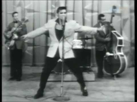 Elvis Presley - Hound Dog 1956. The very first time I went giddy over rock and roll.  I was a tiny little girl but saw something in this guy.  Got butterflies big time.