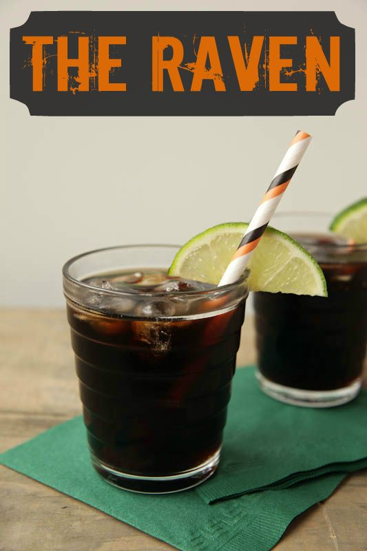 "Very cool drink recipes for Halloween - Sip this dark and spooky cocktail called ""The Raven"" on Halloween!"